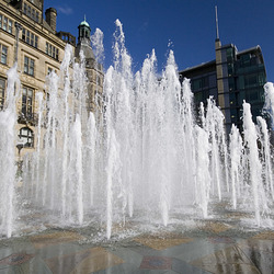 Sheffield Peace Gardens Fountain