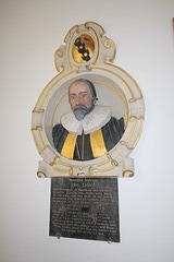 Memorial to John Eldred, Great Saxham Church, Suffolk