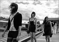 Girls in the wind.