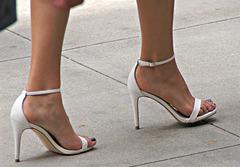 white heels walking (F)