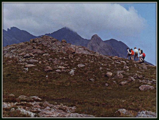 The Cuillin Ridge, Skye, scanned from a slide
