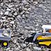 Arbeit im Steinbruch an einer Wasserkuhle