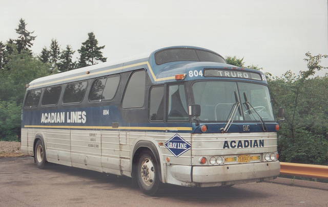 Acadian Lines 804 at Truro, Nova Scotia - 7 Sep 1992 (Ref 173-30)