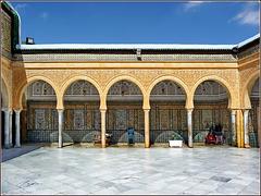 Kairouan : il prezioso piazzale della moskea del barbiere