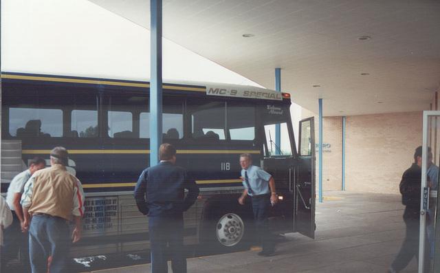 Acadian Lines 118 at Truro, Nova Scotia - 7 Sep 1992 (Ref 173-26)