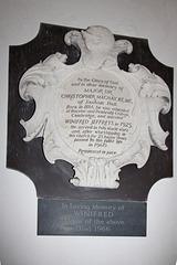 Christopher Magnay Memorial, Great Saxham Church, Suffolk