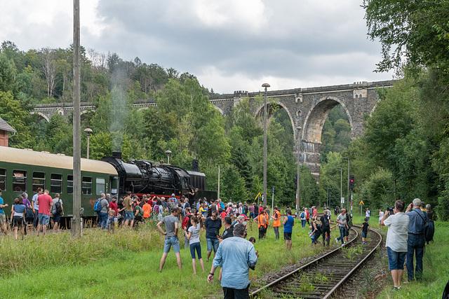 Sonderzug in's Flöhatal, Dampfschnupperfahrt nach Hetzdorf