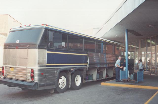 Acadian Lines 118 at Halifax, Nova Scotia - 7 Sep 1992 (Ref 173-17)