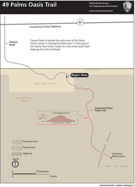 49 Palms Trail Closure