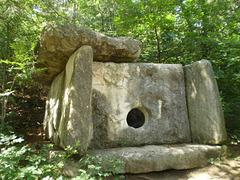 Stone tomb.