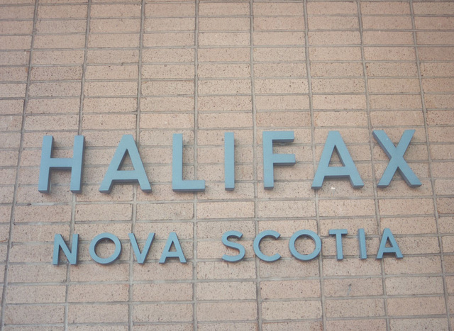 Acadian Lines sign at Halifax, Nova Scotia - 7 Sep 1992 (Ref 173-20)