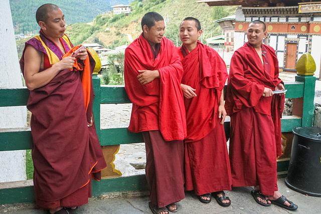 Monks at Rinpung Dzong