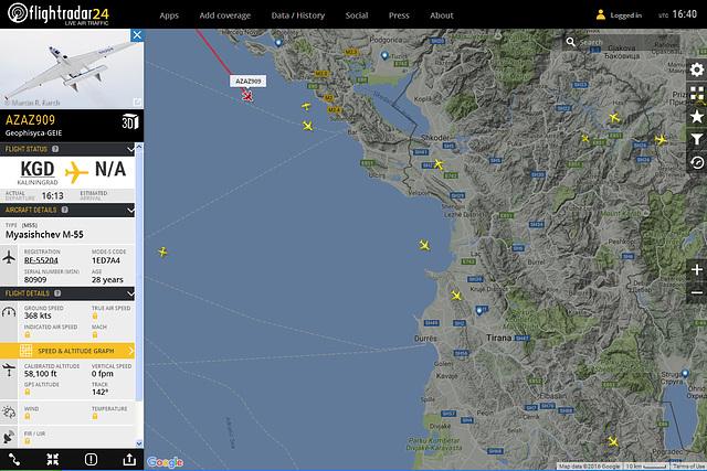 RF-55204 over Adriatic Sea
