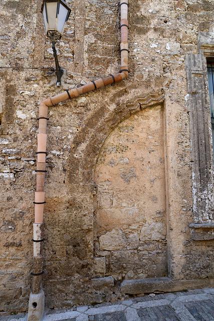 External terracotta drainpipe