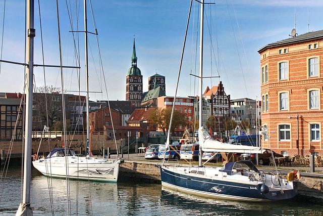 Stralsund, Hafenblick