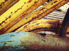 Bananas with blue pipe