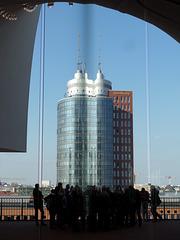 Spiegelung in Hamburg, aber wo? (siehe PiP)