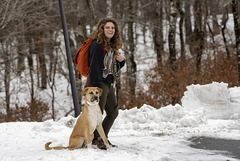 Mel and dog