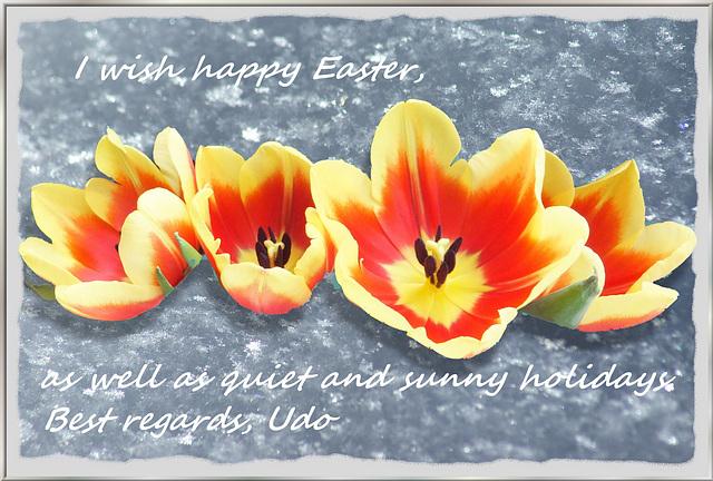 Frohe Ostern, Happy Easter,  Pasqua felice,  Joyeuses Pâques... ©UdoSm