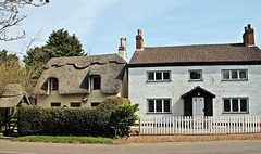 "Corner house and ""By-Trees""  thatched cottage ~ Hemingby ~ Lincolnshire"