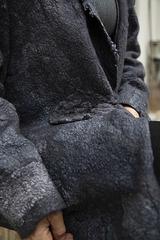 felt jacket - grey - detail