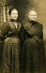Mennonite Mother and Daughter