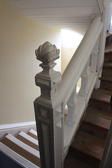 Mid c19th service stair, probably by William Burn, Kimbolton Castle, Cambridgeshire