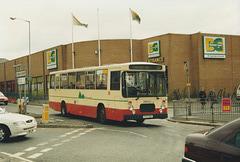 Rossendale Transport 93 (F93 XBV) in Rochdale bus station – 15 Apr 1995 (259-23)