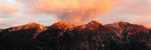 'Alpen'-Glühen am Monte Baldo. ©UdoSm