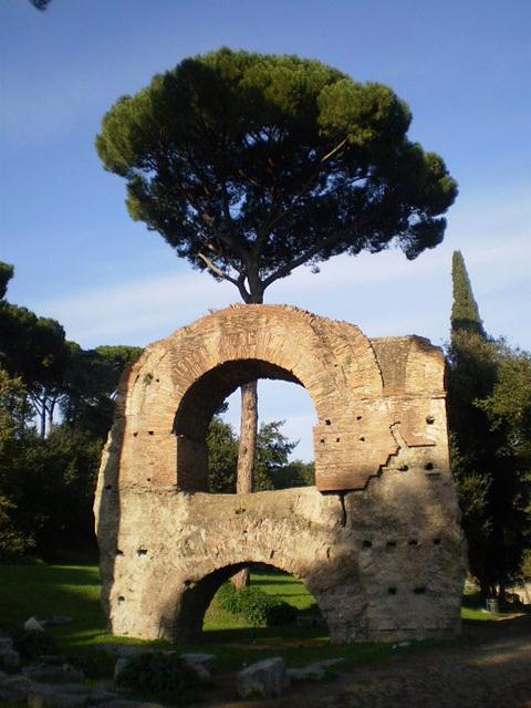 Aquaduct ruins.