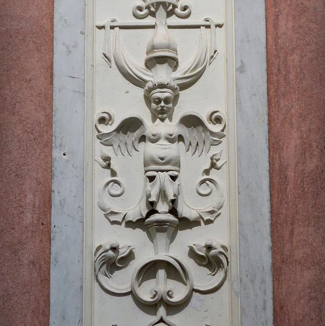 Figured plasterwork detail