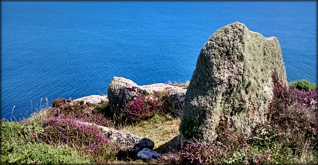 Neolithic Clifftop Tomb, Penberth Cove, Cornwall