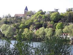 Vue sur La Frette-sur-Seine, commune d'Ile-de-France, France