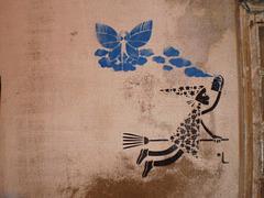Fairy and witch - stencil by Luísa Cortesão.