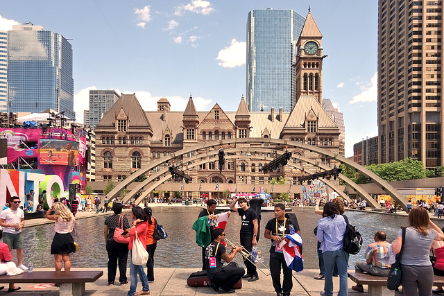 Nathan Phillips Square, Toronto, five years ago today