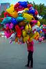 Balloon seller at Hàng Trong, Hoàn Kiém crossroad