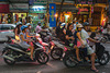 Motorbike traffic in Hang Trong Av.