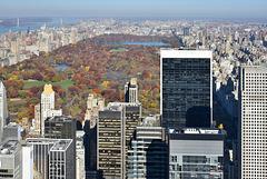N-Y- Bonne visibilité vers Central Park
