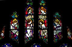 Detail of War Memorial Window, St Peter's Church, Glebe Street, Stoke on Trent, Staffordshire