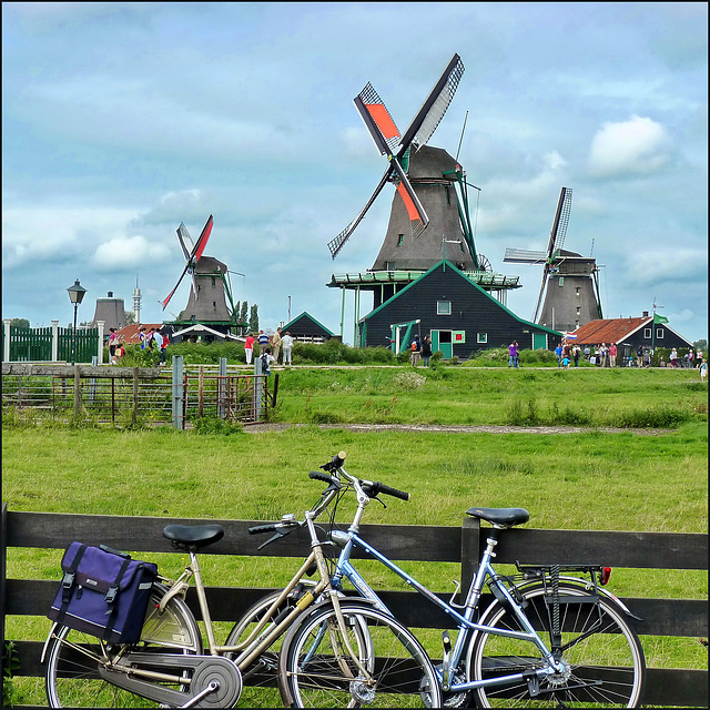 bicycles and Dutch mills fixed torque in Zaandam - (447)