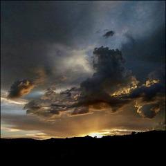 A melancholic sunset.