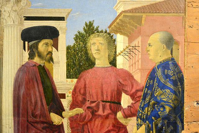 Urbino 2017 – Palazzo Ducale – Flagellation of Christ detail