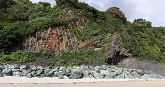 Tenby North Sands chevron fold couplet structural interpretation