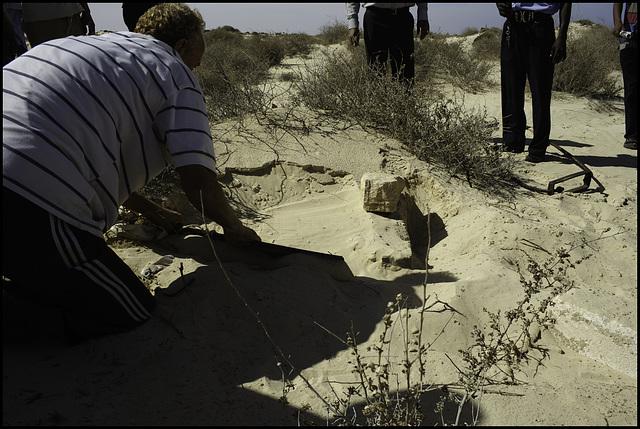 Omar Muktar's gallows site