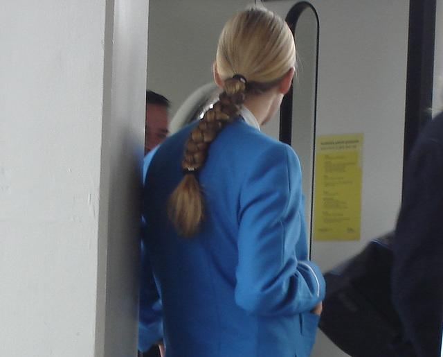 Une Déesse blonde de KLM