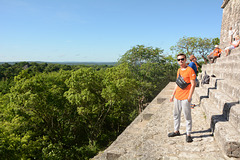 Guatemala, On the Top of the Temple IV in Tikal