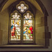 Stained glass window from inside the chapel2