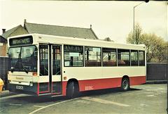 Rossendale Transport 104 (H104 CHG) in Rochdale – 15 Apr 1995 (260-01)