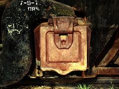 Hatch on an old locomotive