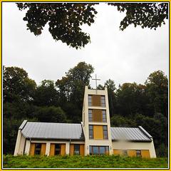 Moderne Kirche in Scharfenstein Erzgebirge